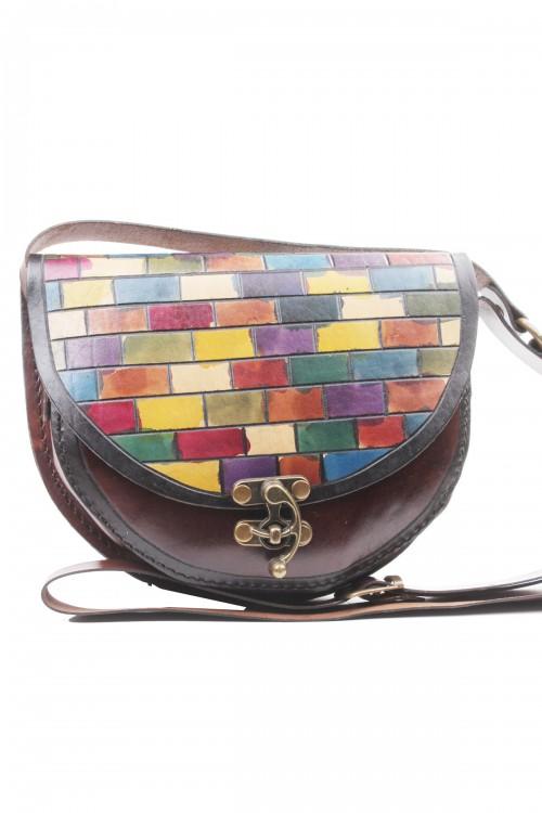 D Model Küçük Boy Karışık Renk Mozaik Çanta