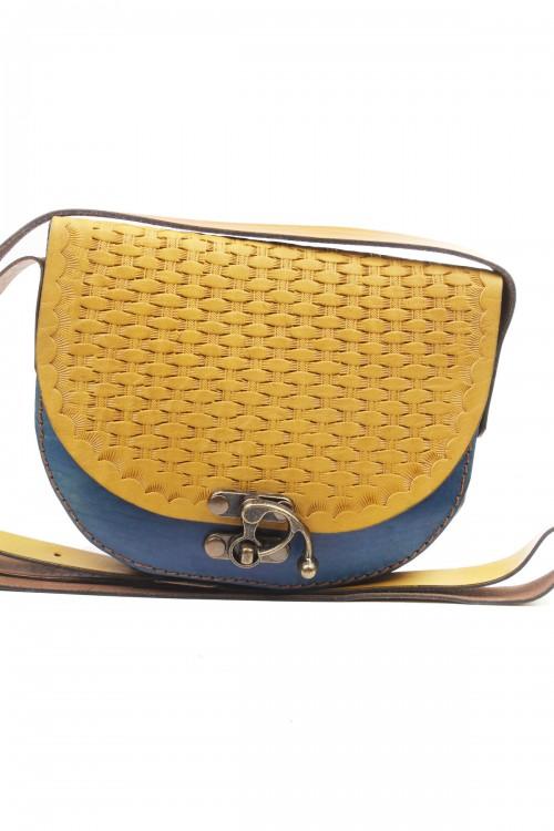D Model Küçük Boy Renkli Hasır İşleme Çanta