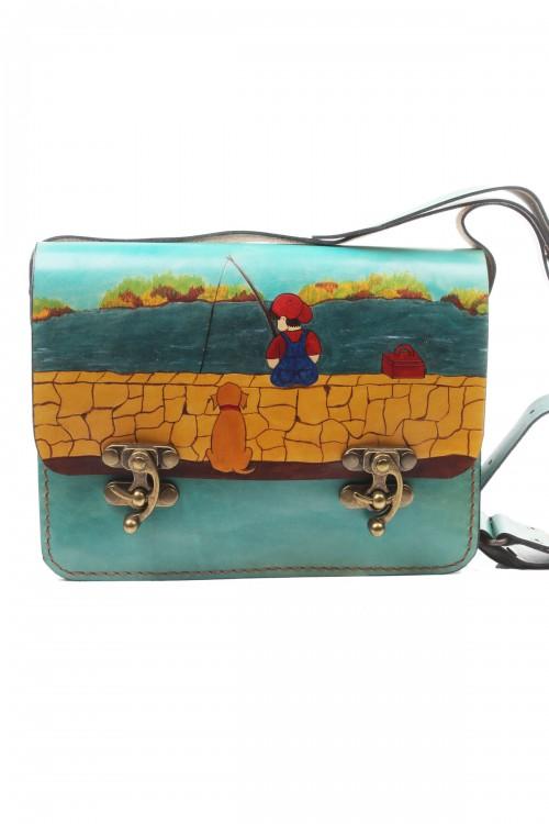 Postacı Model Balıkçı Desenli Çanta
